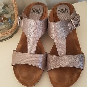 Sofft Silver Wedge Size 8.5